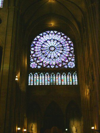 Notre Dame rose window Stock Photo - 1559233