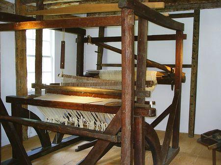 loom: Old-fashioned loom Stock Photo