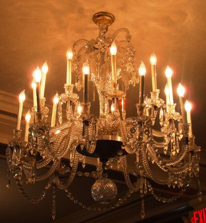 Cut glass chandelier Stock Photo - 2033588