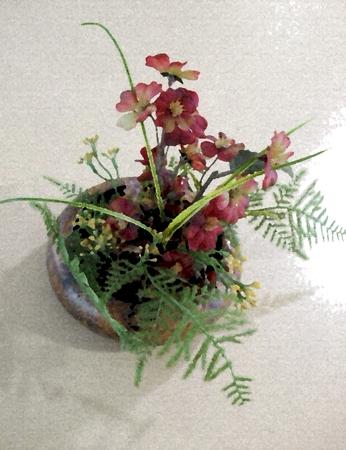 Floral regeling - olieverf op doek textuur