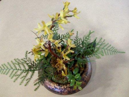 Floral arrangement - olieverf op doek textuur Stock Illustratie