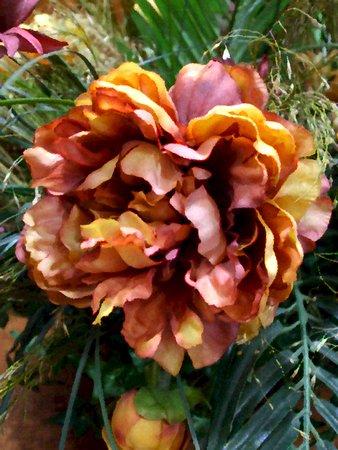 Floral arrangement - oil painting on canvas texture