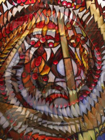 stain: Stain glass lamp illusion