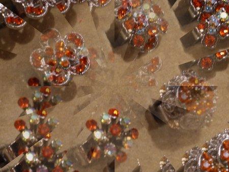 Oranje sieraden illusie
