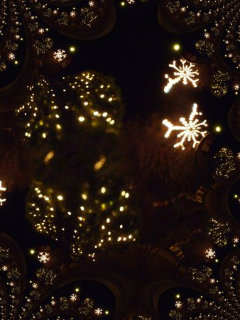 Christmas lights fractal