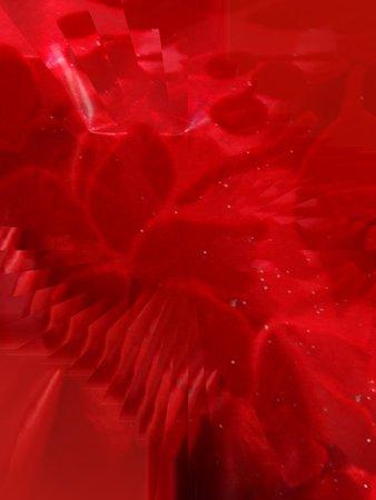 Rode folie illusie