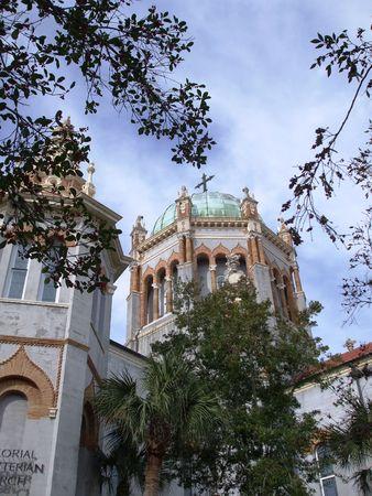 Memorial Presbyterian Church - St. Augustine, FL Stock Photo