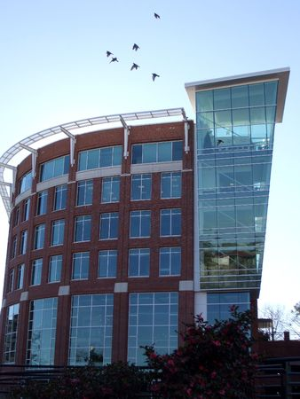 Modern building in downtown Greenville, SC Stock Photo