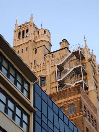 Castle-achtige gebouw in downtown Asheville, NC