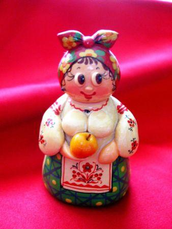 Porcelain figurine of a woman in Ukrainian costume