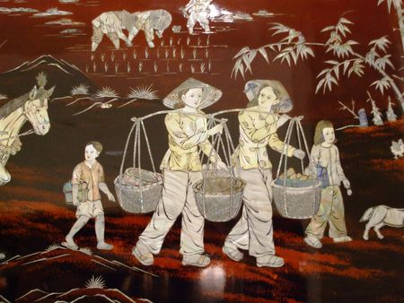 inlay: Chinese mother-of-pearl fresco