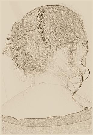 Donna con un updo di sera Archivio Fotografico - 2558730
