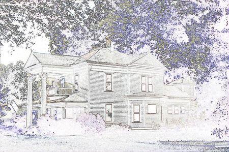 House with balconies 版權商用圖片 - 2575197