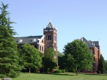 Catholic college campus Stock Photo