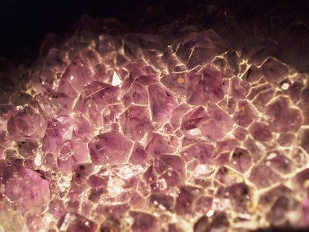 Amethyst geode - closeup