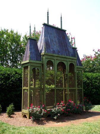 aviary: Aviary in the garden