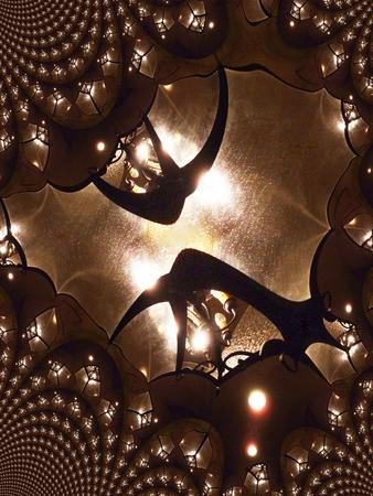 Decorative lantern - fractal illustration Stock fotó - 3586948