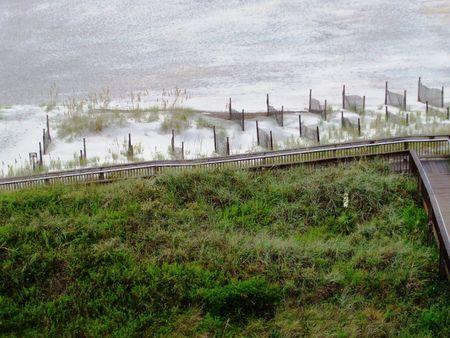 Beach ramp Banco de Imagens