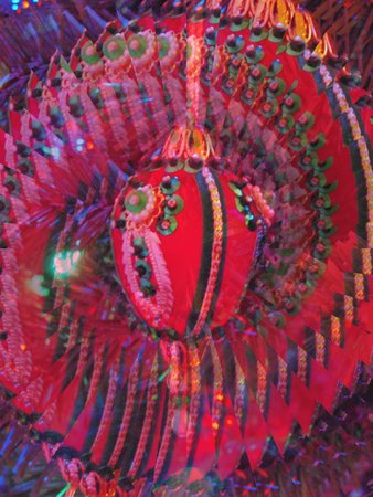 Velvet Christmas ornament - illusion Ilustração