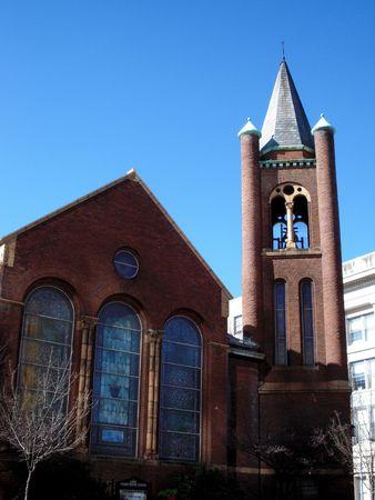 L'église en brique rouge Banque d'images - 4259771