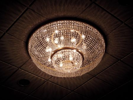 Crystal chandelier Banco de Imagens