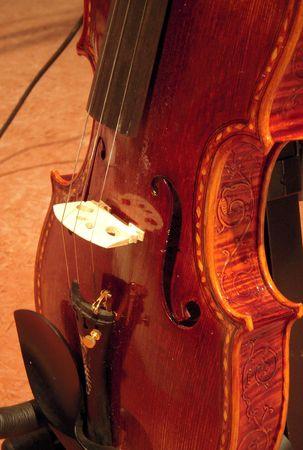ヴァイオリンのクローズ アップ 写真素材