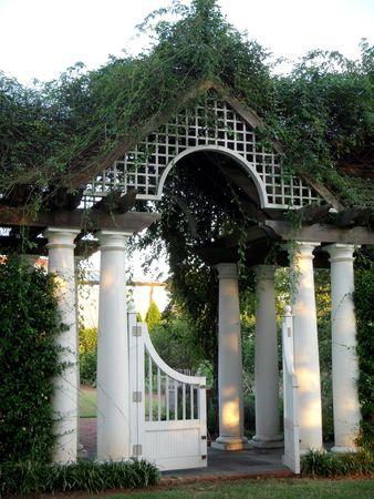 entrance arbor: Garden gate Stock Photo