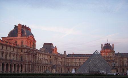 Paris, France at sunset