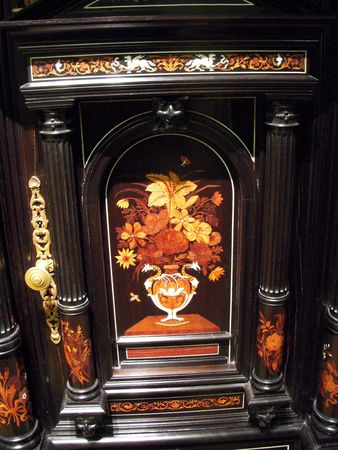 Ornate antique cabinet