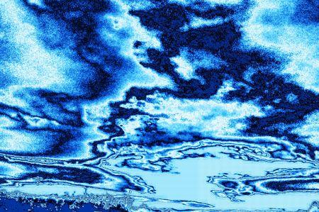 Fantastic landscapes - metallic ice map