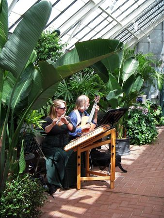 conservatory: April, 2010 - Biltmore Estate, Asheville, NC - Musicians playing at the Biltmore conservatory