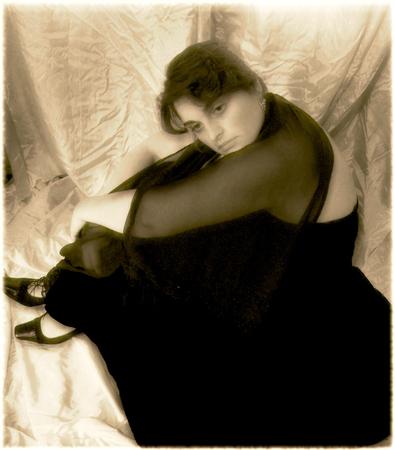 Portrait of a woman - sepia