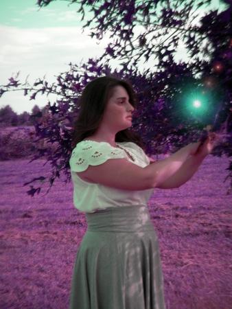 Purple tone fantasy portrait