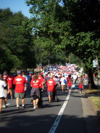 September 25, 2010 - Charlotte, NC - Charlotte hart lopen deelnemers genieten van de perfecte weer te lopen voor een goed doel