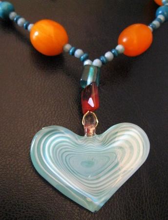 Glass medallion