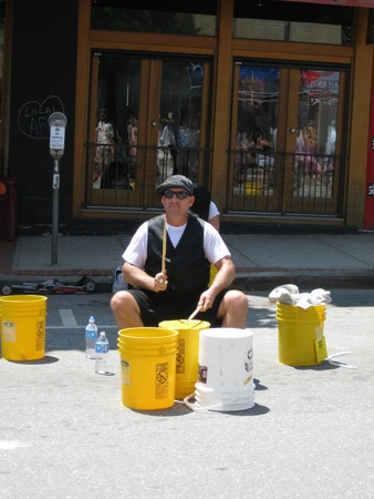 Asheville, NC - July, 2011 - A performer at the Bele Chere festival