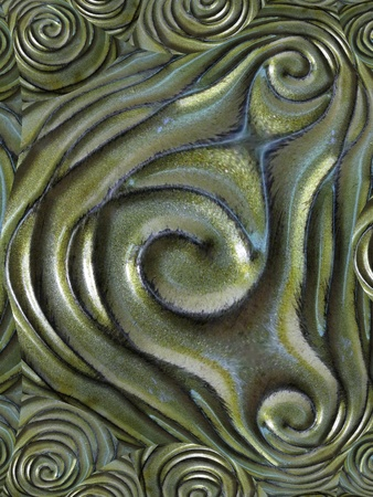 Green swirls