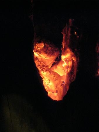 smolder: Hot coals