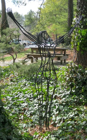 February 22, 2012 - Outdoor sculpture at the Grovewood Gallery, Asheville, NC Stock Photo - 13073379