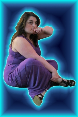 woman floating: Floating woman s portrait