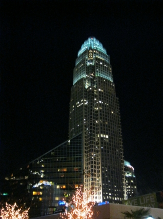 Charlotte, NC - December 14, 2012 - Bank of America headquarters at night