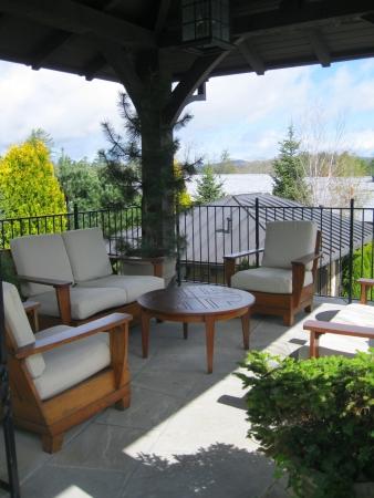 cabana: Highlands, NC - April 29, 2013 - a beautiful cabana at Old Edwards Inn Editorial