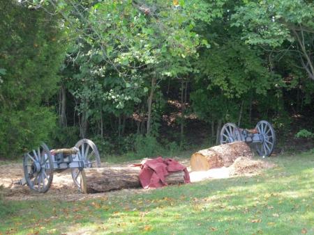 revolutionary war: Fort Loudoun, TN - September 8, 2013 - authentic Revolutionary War canons at Colonkal Trade Fair at For Loudoun Editorial