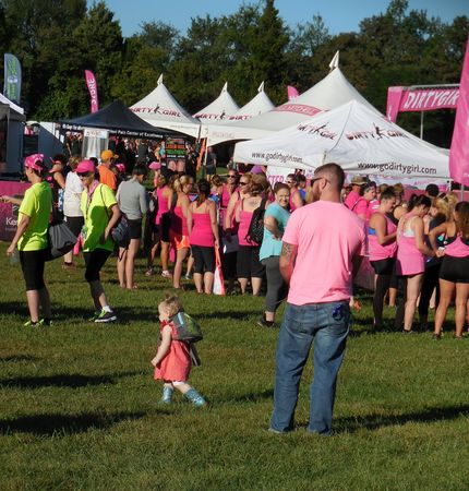 dirty girl: August 22, 2015 - Germantown, MD - Visitors enjoying Dirty Girl Mud Run