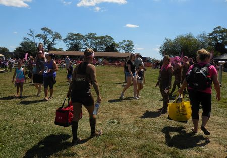 dirty girl: August 22, 2015 - Germantown, MD - Participants enjoying Dirty Girl Mud Run