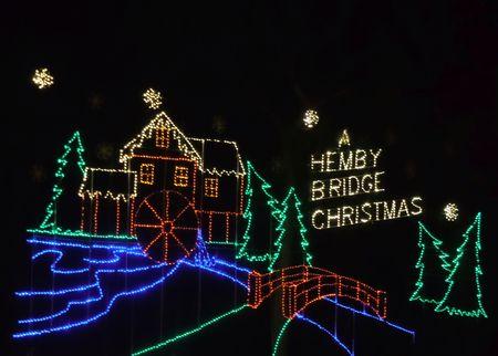 December 25, 2017 - Indian Trail, NC - Christmas lights at Hemby Bridge