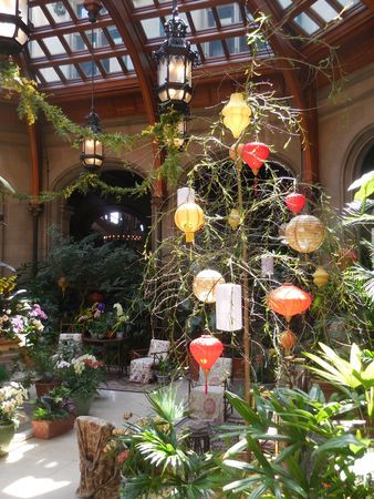 April 17, 2017 - Biltmore Estate, NC - Spring decorations at the Biltmore House conservatory Stock Photo - 78727536