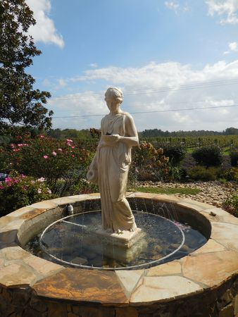 Statue in the fountain