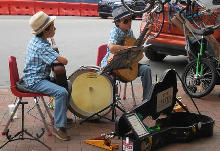 Editorial - June 30, 2017 - Asheville, NC - Young street musicians