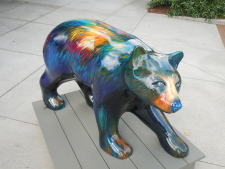 June 17, 2017 - Hendersonville, NC - decorative bear